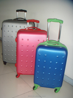 Manufacture factory ABS PC 360 degree spinner Hard Shell Trolley Luggage Set