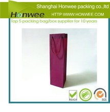 2014 fashion recycle plastic single bottle wine packaging bag