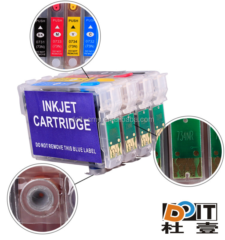 printer consumable 73n refill ink cartridge for epson stylus T11