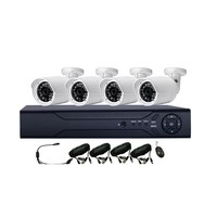 4ch dvr combo cctv camera kit Analog 700tvl security camera surveillance system