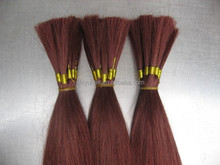 Wholesale 18Inch 140g/piece Grade AAA Remy Vrigin Human Hair Bulk/European Processed Hair Human Hair Bulk