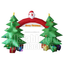 Merry Christmas outdoor inflatable christmas arch with santa