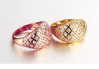Women Fashion Zircon Rose Gold/Gold Plated Crystal Ring/Rings