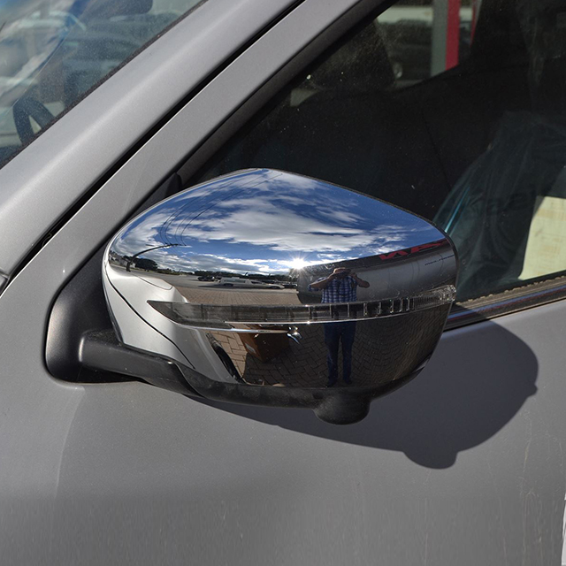 ABS Plastic Chrome Side Mirror Cover with LED For Navara NP300 Frontier 2014 2015 2016