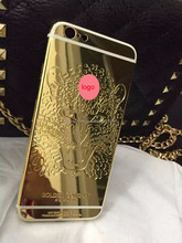 Engraved Lion Head Metal Back Cover Housing Replacement Middle Frame 24K GOLD Housing for iPhone 6s/6SPlus