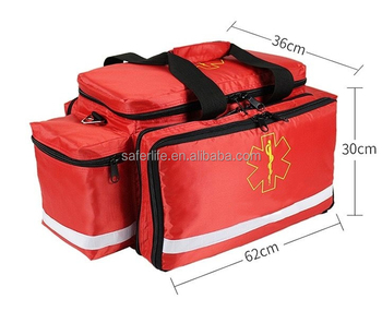 Saferlife New Arrival Red Nylon Ambulance Medical Airway Bag SL-E06
