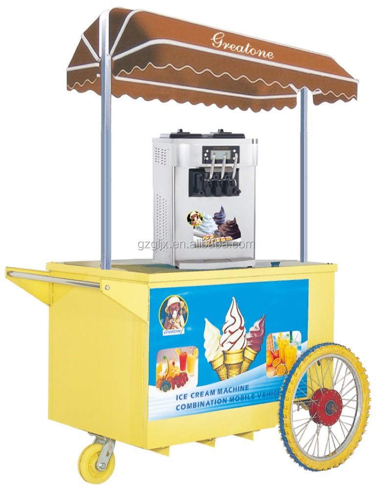 CE Approved ice cream machine combination mobile vehicle, ice cream machine
