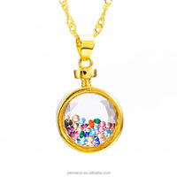 Fantasy fashion gold necklace jewelries customed colorfrul stone custom necklace
