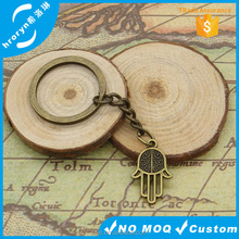 Keychain 13*13mm palm hand made handmade Pendants DIY Men Jewelry Car Key Chain 30mm Ring Holder Souvenir For Gift