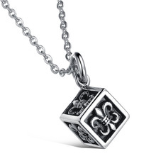 hot sale stainless steel engrave prayer box pendant