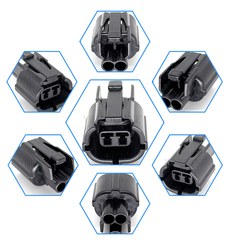 2 way female electronics tyco amp automotive electrical connectors