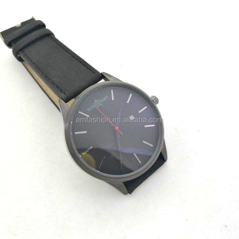 <strong>Men</strong> Simple Classic Quartz Genuine Leather Watch With Calendar