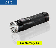 DS16 EDC mini AA battery rechargeable tactical led torch flashlight