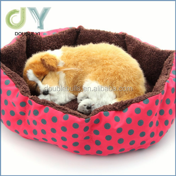 Promotional customized Washable Round Fleece Plush Cozy Nest Mat Pad Pet Dog Warm Bed House 4 Colors