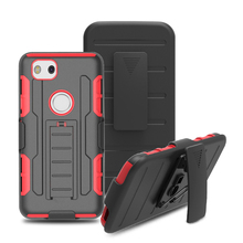 Heavy duty 3 layers pc+silicon holster mobile phone case for Google Pixel 2