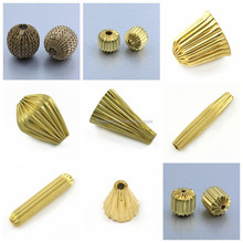 All Types Of Melon Beads For Jewelry Making Accessroy 14K Gold Plated Wholesale
