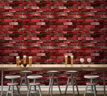 3d brick wallpaper/wallpaper 3d design stone for home decoration