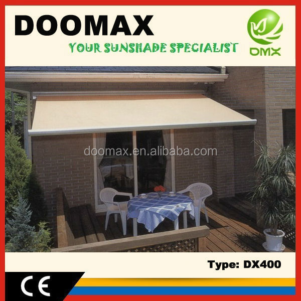 Retractable Full Cassette Patio Door Awnings for Sale