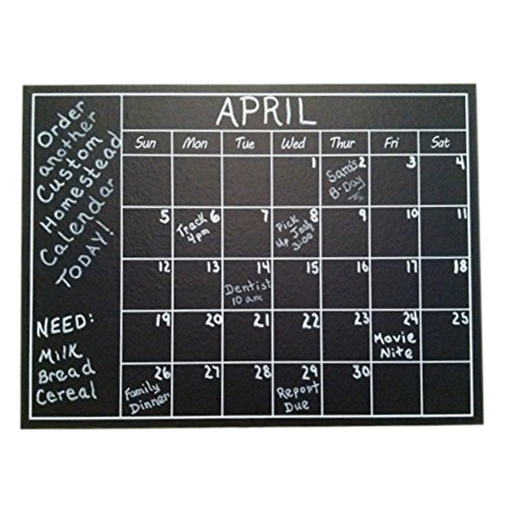 wholesale custom removable chalkboard calendar wall calendar wall stickers 7 decals home office college dorm