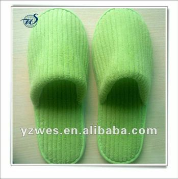 Apple color coral fleece close toe warm home slippers
