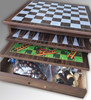 High quality 5 in 1 ludo 3 in 1 wooden backgamon chess checkers chess set game