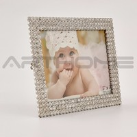 new style square beaded photo frame/baby picture frames 3x5/pearl picture fram