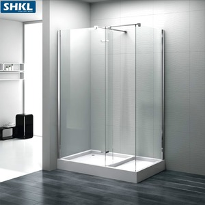 8mm tempered glass walk in shower room