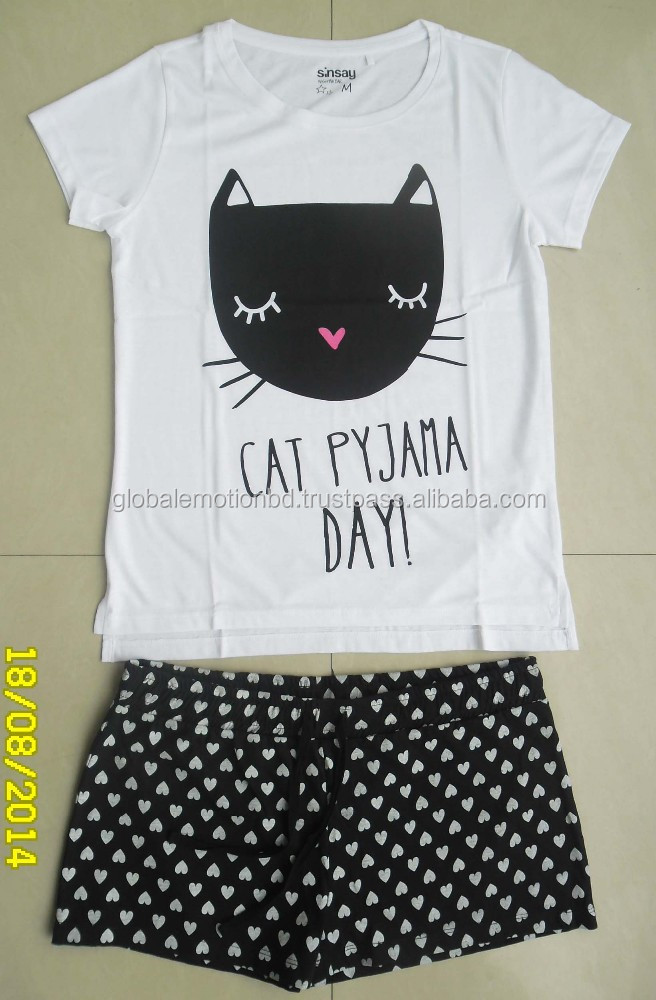 new fashionable printed short sleeve pajama set