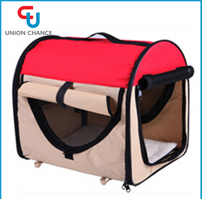 High Quality Side Open Waterproof Oxford Foldable Easy Taken Cute Pet Bag