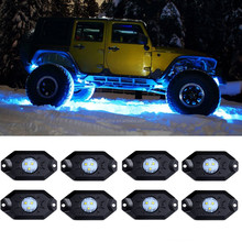 Super Bright Beam 4 pods IP67 Waterproof 2 inch 4X4 Offroad Amber LED Rock Lights