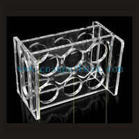 clear acrylic wine bottle banlancing/display stand,acrylic wine bottle stand