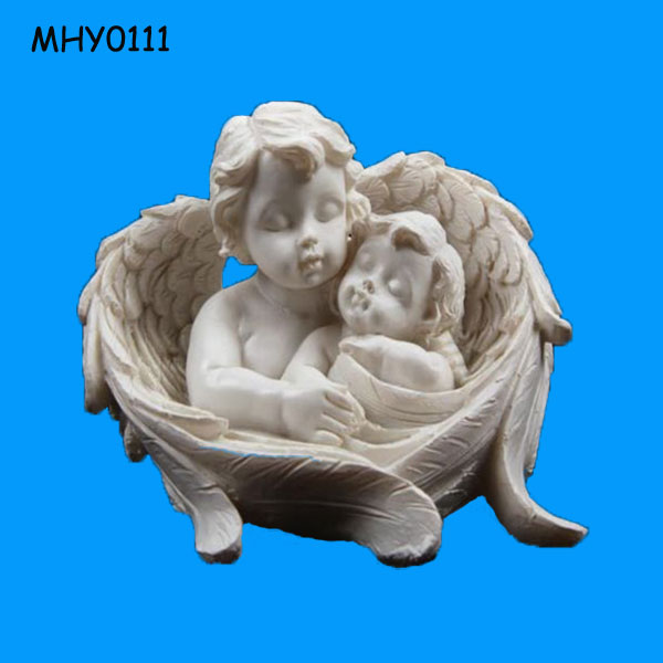 Lovely baby wing holding ceramic small Angel Figurine