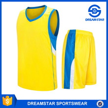 Promation Best Quality Design Yellow Basketball Jersey