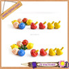 New design model promotional boys super top toys wooden toy tops