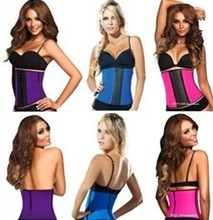 2016 sexy plus size waist training corsets wholesale latex lingerie