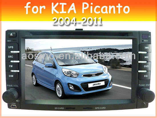 car audio car dvd player for KIA Picanto 2004-2011 car radio with bluetooth gps navigation