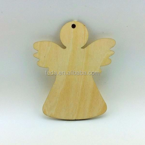 Personalized christian craft wooden angel