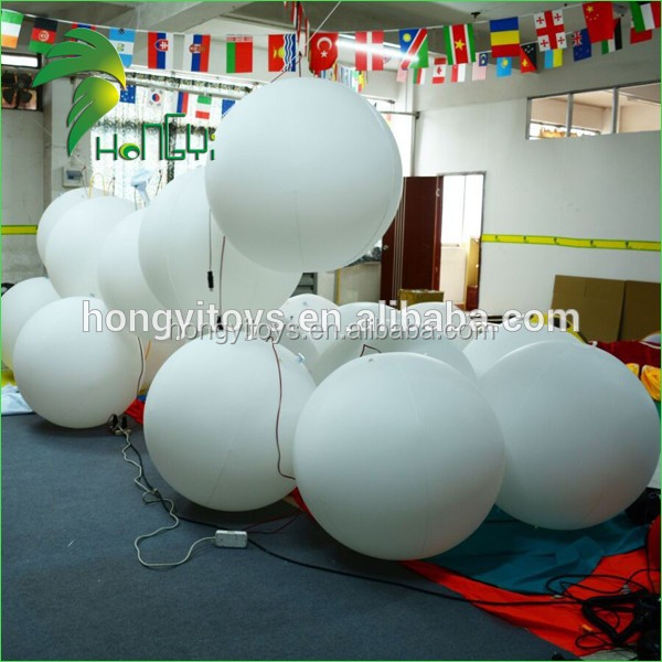 Inflatable Advertising Balloon With LED Light / Inflatable Light Balloon / Inflatable Helium Balloon For Advertising