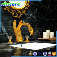 black polished marble floor tile with white veins