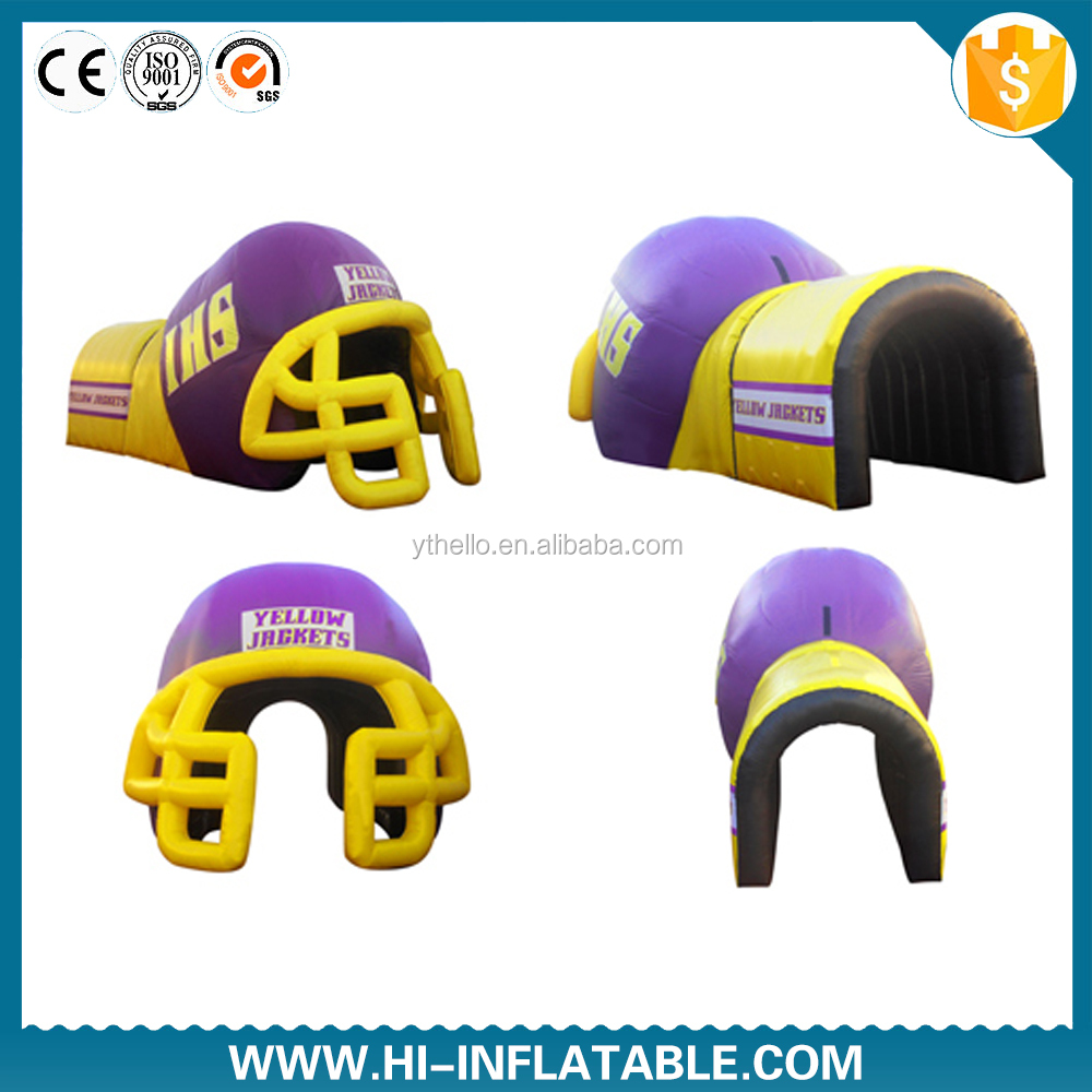 Fantasty Inflatable Tunnel/Inflatable football helmet tunnel /inflatable football tunnel tent