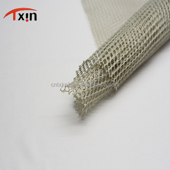 making bag and luggage polyester plain nude big hole inner lining mesh fabric
