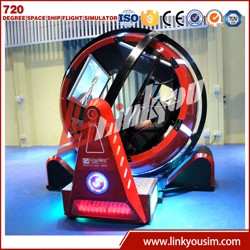 Linkyou red sphere space ship vr game machine