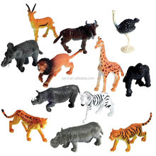 plastic injection resin plastic pvc resin figure custom make your own design Multi animal action figure