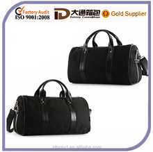 Plain Leather Handle Travel Kit Bag Expandable Duffle Bag