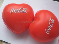 custom logo printing heart stress ball/Heart stress toys