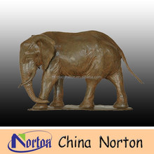 outdoor lifesize bronze elephant sculpture NTBA-E0348C