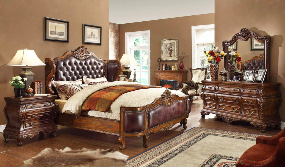 cherry color oak wooden goods bedroom set furniture <strong>A08</strong>