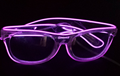 Manufacturer supply whole sale multi color glow rave party lighting el shutter sunglassess