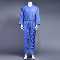 zip front 65% polyester 35% cotton long sleeve coverall safety workwear XXL