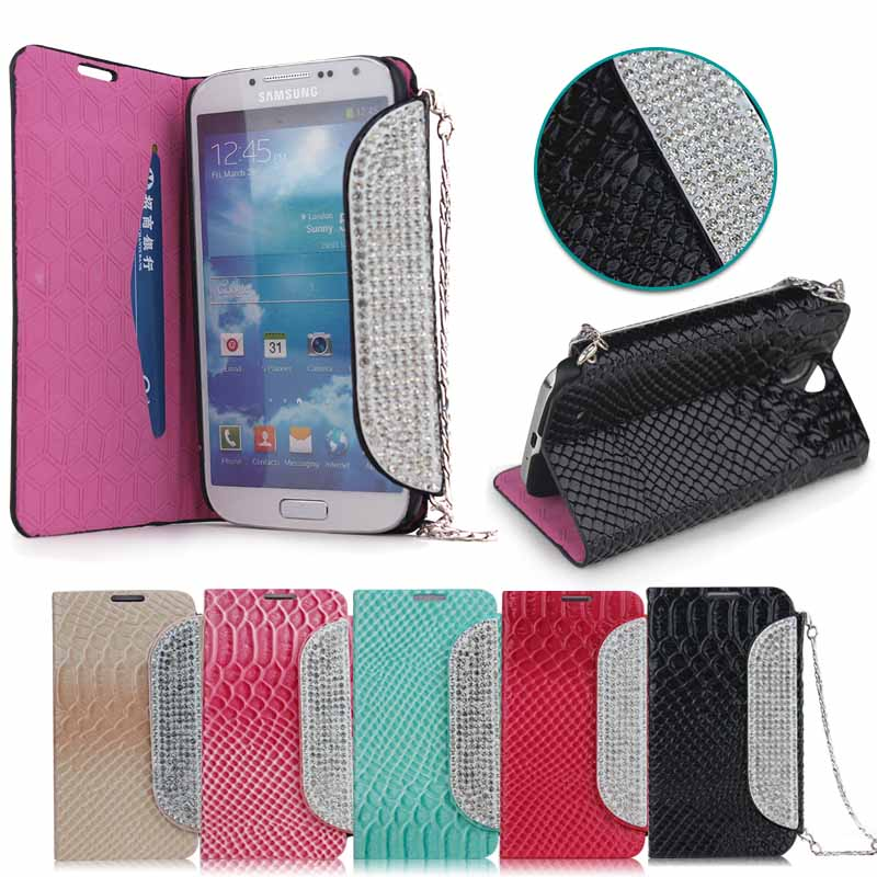 2014 fashion mobile rhinestone phone case for Samsung S4